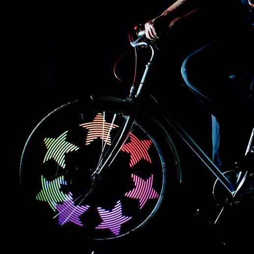 MonkeyLectric® LED-Speichenlicht - Animierte Lichtkunst aus 32 Farb-LEDs macht Ihr Fahrrad unübersehbar.
