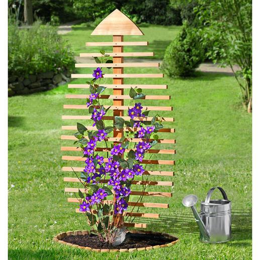 Rankskulptur-Blatt - Rankhilfe für Pflanzen. Wirksamer Sichtschutz. Und attraktiver Blickfang.
