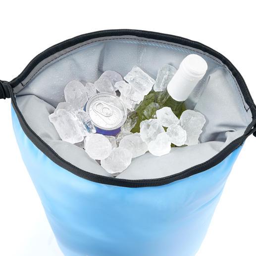 Bis zu 5 Flaschen (0,75 l) oder 12 Getränkedosen samt Eiswürfel passen in den IceMule®.