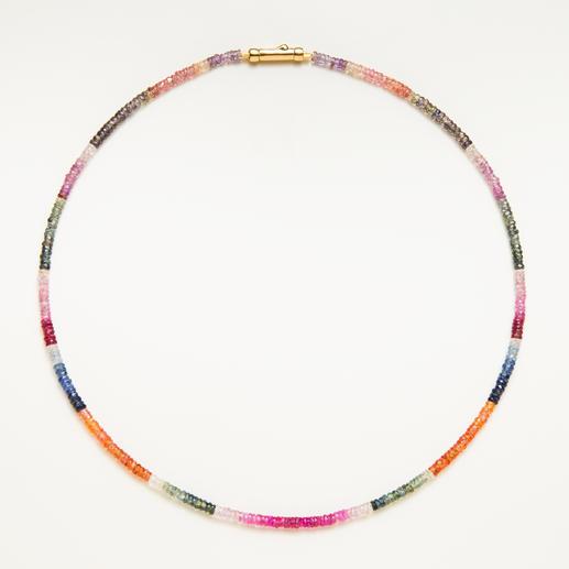 Saphir-Kette - Selten: das gesamte, natürliche Farbspektrum der Saphire - in einem Schmuckstück vereint.