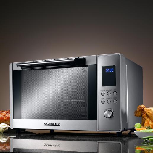 Gastroback Bistro-Ofen - Top-Ausstattung zum sehr guten Preis. Elektronische Steuerung, 9 Automatik-Programme, 3 Heizarten, ...