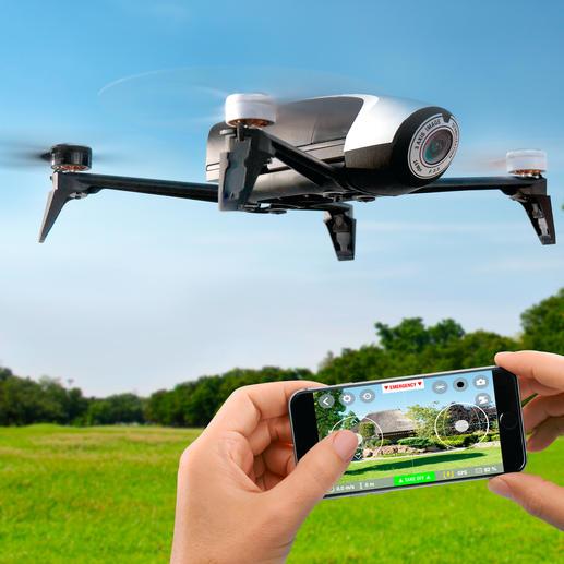 Parrot Kamera-Drohne Bebop 2 mit oder ohne Skycontroller - Jetzt noch besser: 25 Minuten Flugspass mit bis zu 60 km/h mit der Parrot Hightech-Drohne Bebop 2.