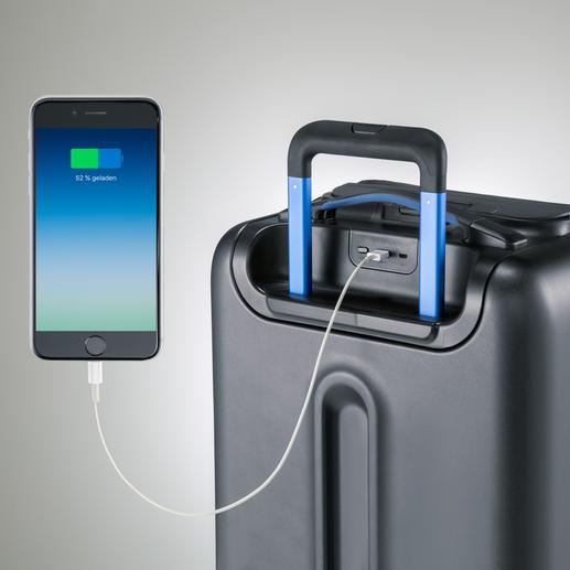 Über 2 USB-Anschlüsse können Sie ihr Handy, Tablet, Digicam, ... laden.