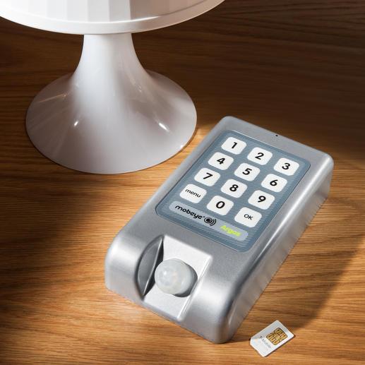 Mobiles Alarmsystem mit SMS-Funktion - Braucht keine Steckdose, kein WLAN. Alarmiert Sie im Einbruchsfall in Sekunden per SMS und/oder Anruf.
