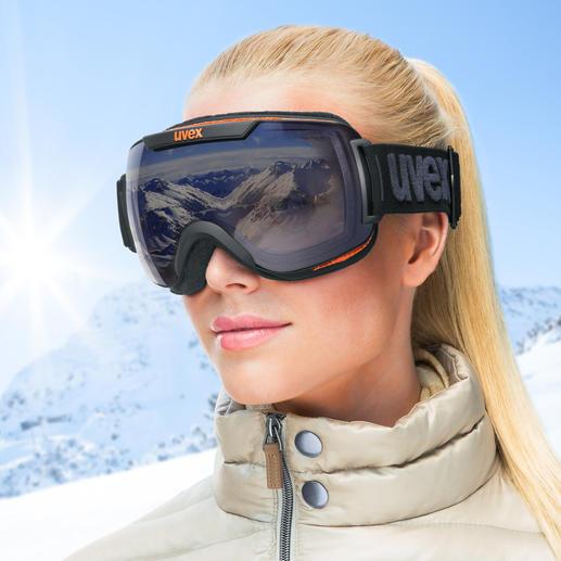 Uvex Variomatic®-Polavision®-Skibrille - Automatische Tönung plus effektiver Blendschutz. Die Skibrille mit 2 Hightech-Technologien in einer Scheibe.
