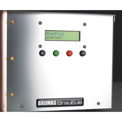 Vollautomatisch: Das Programm der Brauanlage steuert und kontrolliert den gesamten Prozess und leitet Sie mit klaren Displayanzeigen an.