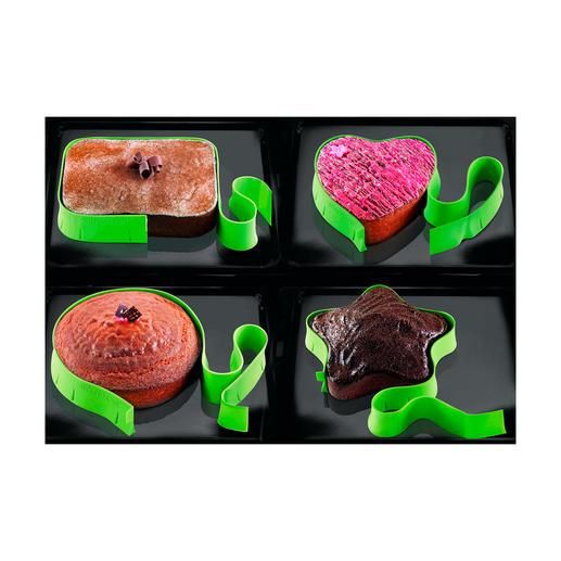Lassen Sie Ihrer Kreativität freien Lauf und formen Sie Ihre Kuchen immer wieder neu: herzförmig, rund, eckig oder wie einen Stern.
