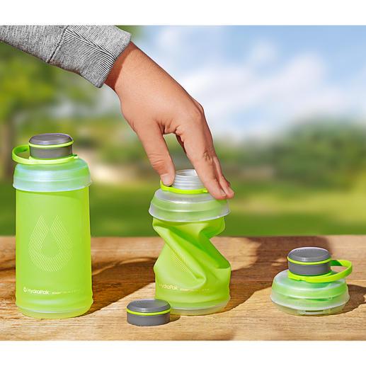 Falt-Trinkflasche - Austrinken. Zusammenfalten. Wegpacken. Die komprimierbare Trinkflasche ist ideal beim Wandern, Campen, Reisen, ...