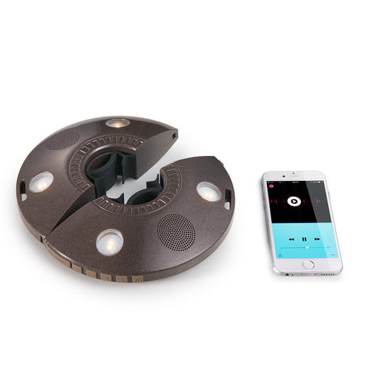 Per Bluetooth übertragen Sie Ihre Lieblingsmusik an die 2 eingebauten 3-W-Breitband-Lautsprecher.
