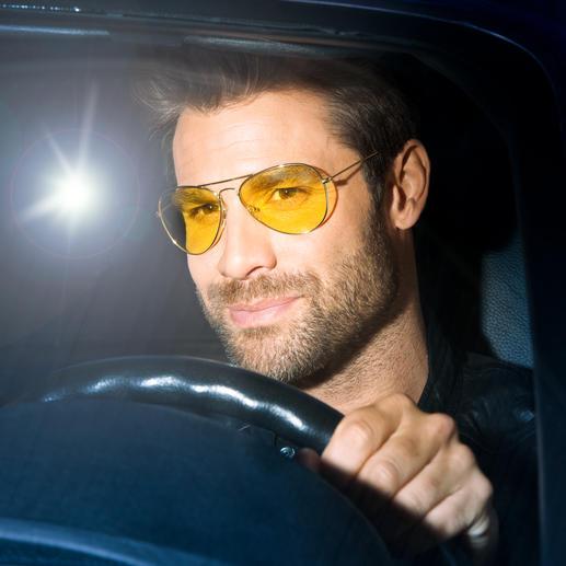 Eagle Eyes® Nacht-Brille oder Nacht-Brillenaufsatz Die Spezialbrille für Blendschutz und Kontrastverstärkung. Von Eagle Eyes®/USA.