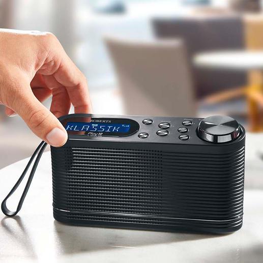 Roberts DAB+ Radio Play10 Das Digitalradio vom Hoflieferanten der Queen – für zu Hause und unterwegs.