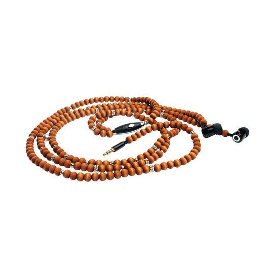 Nie mehr verknotete Kabel: Die Perlen der In-Ear–Kopfhörer verstecken das unattraktive Kabel und vollenden Ihr Outfit.