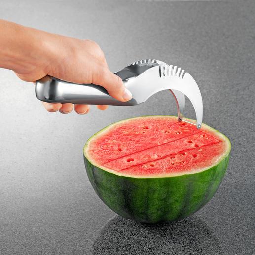 Melonenschneider Noch nie war Melone servieren so einfach. Finger und Arbeitsfläche bleiben trocken und verkleben nicht.