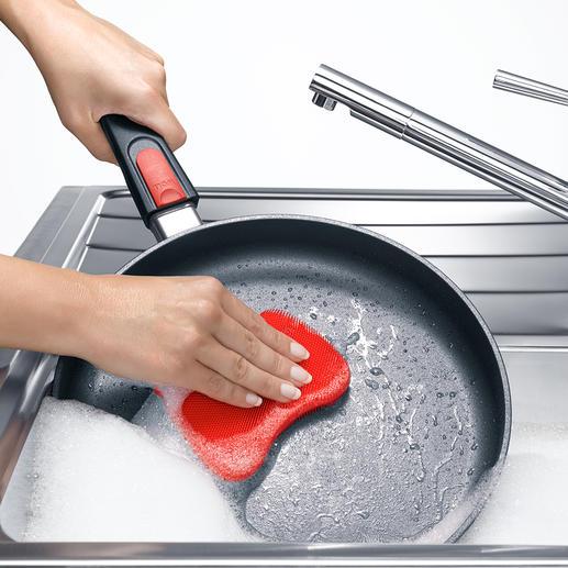 Silikonschwamm, 3er-Set - Hygienische Sauberkeit - ohne Chance für Bakterien. Innovativer Silikonschwamm mit 5200 Reinigungsnoppen.