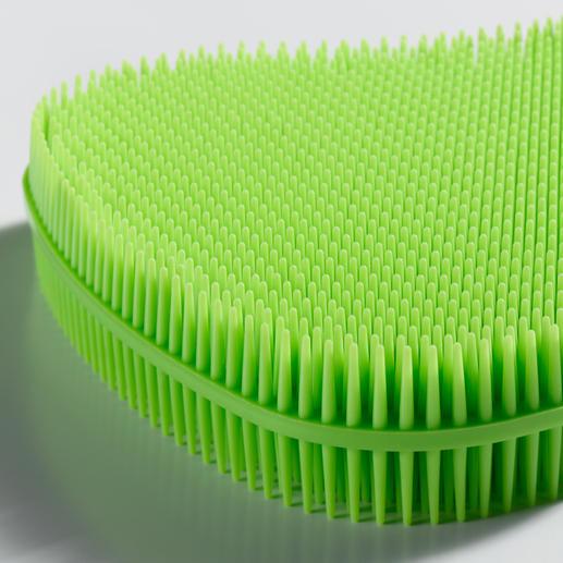 Die feinen Noppen des Schwamms entfernen Schmutz effektiv, ohne Kratzer oder Scheuerspuren.