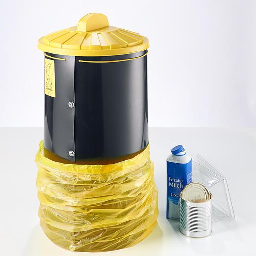 Sacktonne Recycling-Müll endlich platzsparend, sauber und optimal gesammelt.