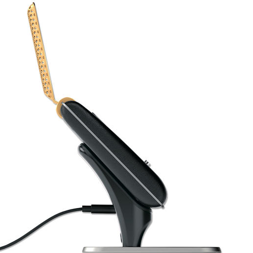 In der magnetischen Docking Station können Sie Ihren Communicator laden.