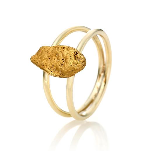 Goldnugget-Ring - Ein echtes Goldnugget: aussergewöhnliches Schmuck-Unikat, geformt von der Natur.