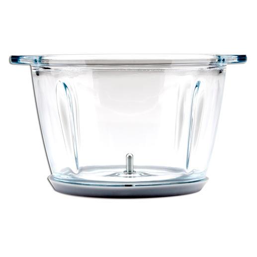 Der Glasbehälter bleibt frei von Verfärbungen.