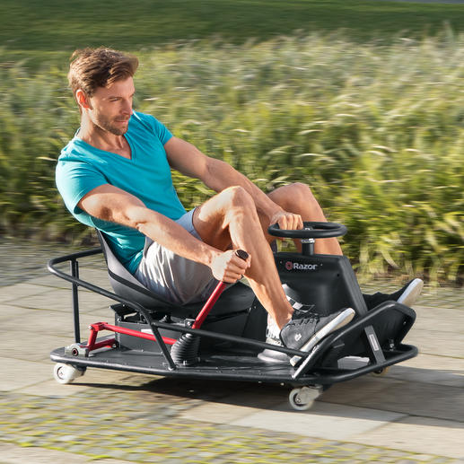 CrazyCart XL Heisse Drifts und spektakuläre 360°-Drehungen in voller Fahrt. Mit dem sensationellen CrazyCart.
