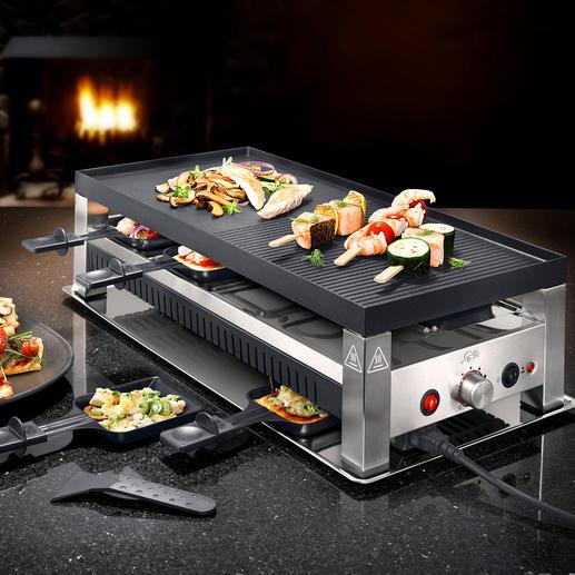 Solis 5-in-1-Raclettegrill - Fun-Cooking für jeden Geschmack: Raclette, Tischgrill, Mini-Wok, Pizza- und Crêpes-Bäcker in einem.