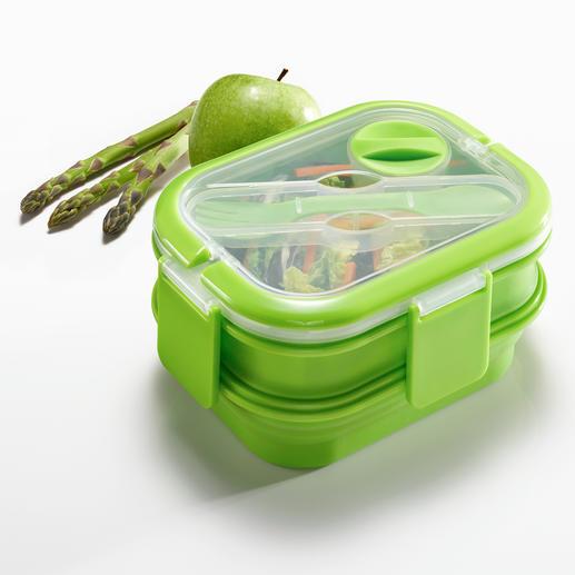 Faltbare Lunch-Box - Die bessere Lunch-Box: platzsparend faltbar. Dennoch gross genug für eine komplette Mahlzeit.