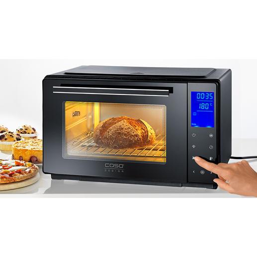 Bistro-Ofen mit Drehspiess - Perfekt zum Braten, Grillen, Backen, Toasten, Auftauen, Erwärmen. In Minuten aufgeheizt. Spart Zeit und Energie.
