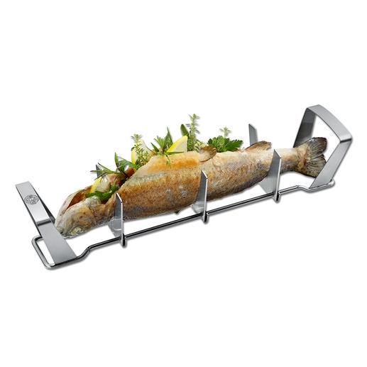 Gefu® Fischgriller Saftig gegrillter Fisch – einfach wie nie. Kein kniffliges Wenden, kein Verbrennen.
