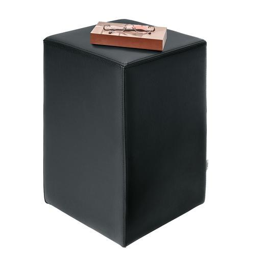 Design-Hocker Bequemer Sitzhocker für unzählige Gelegenheiten. Solide, langlebige Polsterer-Arbeit.