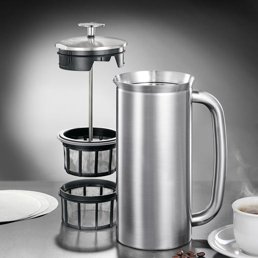 Espro®-French-Press oder -Thermobecher Endlich vollmundiger French-Press-Kaffee ohne Kaffeesatz.