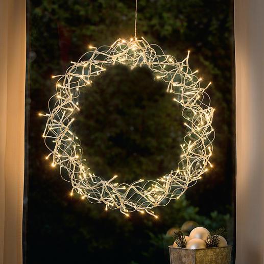 LED-Deko-Kranz Stimmungsvoller Lichterglanz für Ihr Fenster, die Tür, Wand- oder Tischdekoration, ...