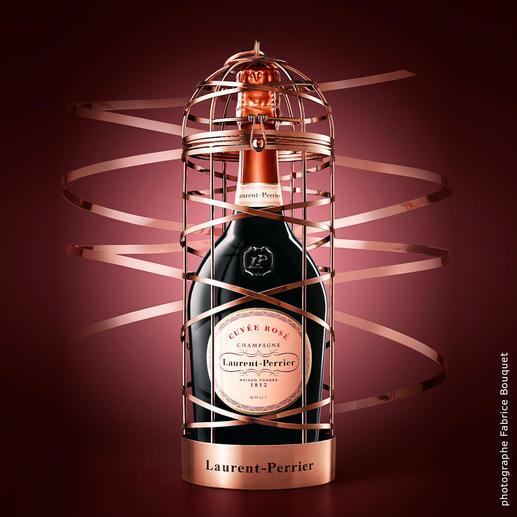 Cuvée Rosé im Käfig, Champagne, Frankreich Spektakuläres Geschenk. Limitierte Edition. Nur noch wenige Exemplare.