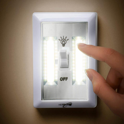 Batteriebetriebenes LED-Wandlicht, 3er-Set Helle Raumbeleuchtung – einfach wie nie. 200 Lumen Lichtstrom: ohne Verkabelung, ohne Montage, ohne Stromanschluss.