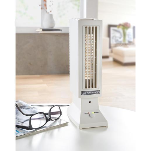"""""""Ionfresher"""" Saubere Luft. Auch in grossen Räumen. Völlig lautlos durch elektronische Umwälzung."""