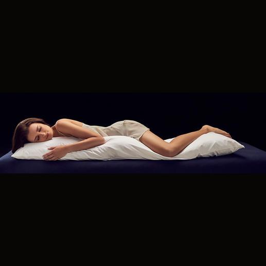 Seitenschläferkissen Zirbe - Das bessere Seitenschläferkissen: kuschelige Schurwolle und feinaromatische Zirbe für traumhaften Schlafkomfort.