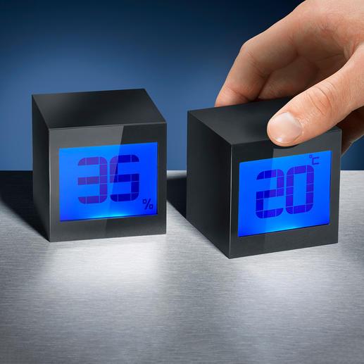 Magische Würfeluhr Magische Würfel: nach Wunsch Digitaluhr. Oder Thermometer und Hygrometer.