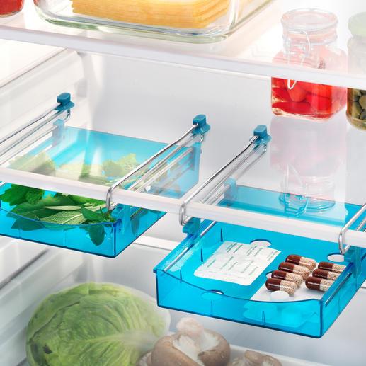 Kühlschrank-Zusatzschublade, 2er-Set - Die Zusatzschublade für Ihren Kühlschrank. Schafft mehr Platz und sorgt für Ordnung.