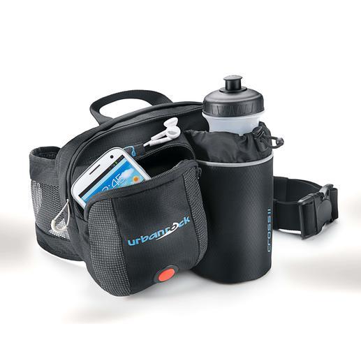 Hüfttasche mit LED-Sicherheitslicht Die Lösung, wenn die Hosentasche zu klein, aber der Rucksack zu gross ist.