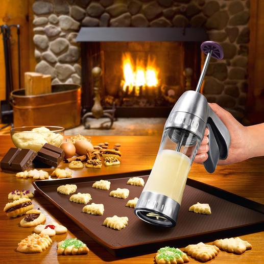 Kekspresse Cookie Pro™ Jetzt gelingen Spritz- und Biskuitgebäck schnell und einfach wie nie. Mit 12 Formschablonen (statt oft nur 6-10).