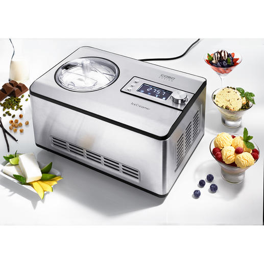 2-l-Kompressor-Eismaschine Mit der Kühltechnik grosser Profi-Geräte. Zum sehr attraktiven Preis.