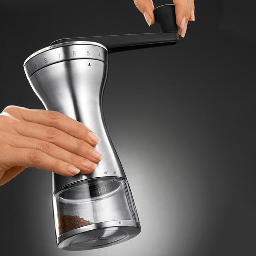 18-Stufen-Hand-Kaffeemühle Genau der richtige Mahlgrad für French Press, Espressokocher, Filtermaschine, türkischen Mokka, ...