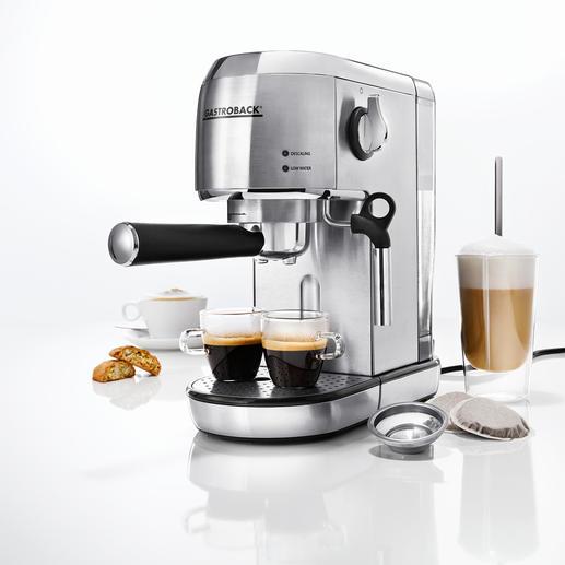 Gastroback Espresso-Maschine Piccolo Ultrakompakt. Kann alles. Sieht blendend aus. Und ist besonders leicht zu bedienen.