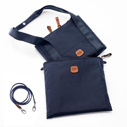 Zusammengefaltet lässt sich die Multi-Bag platzsparend in dem 29x 24cm grossen Beutel verstauen.