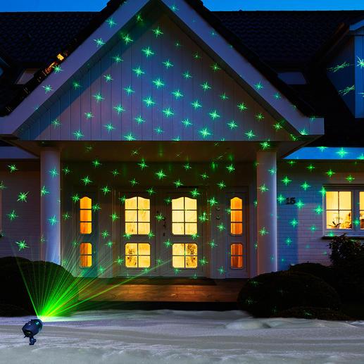 Laser-Motivzauber Laser-Illumination 2.0: 6 wechselbare Motive und Lichtmuster einfach auf Knopfdruck.