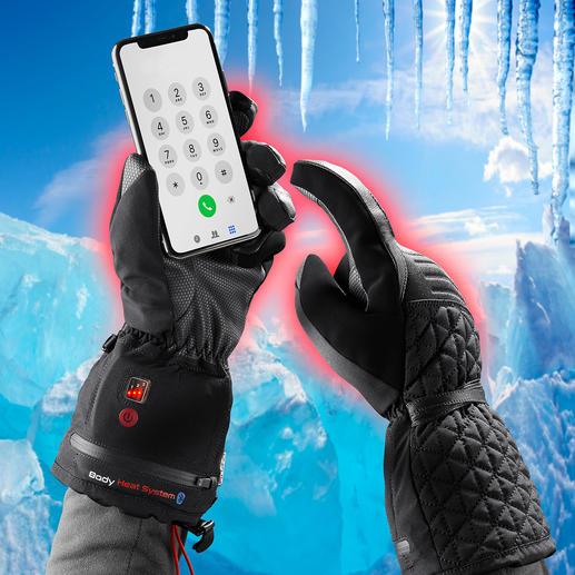 Beheizbare Winterhandschuhe Winterhandschuh 4.0: Warm. Wasserdicht. Touchscreen-tauglich. Und per Akku (separat erhältlich) bis zu 11 Stunden beheizbar.