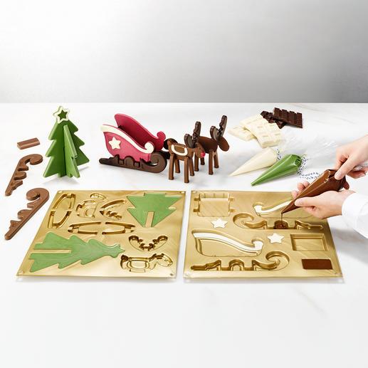 Schokoladenform Rentier-Schlitten Die Pâtisserie-Formen aus haftfreiem Platin-Silikon von Profi-Ausstatter Silikomart®.