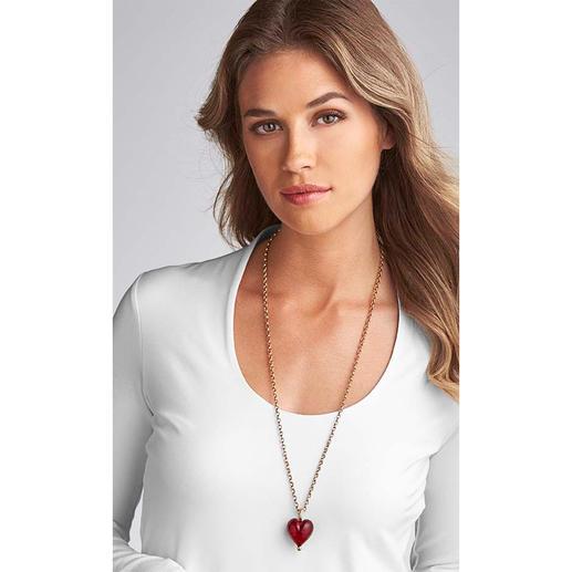 Murano-Herz-Anhänger oder Goldkette Venezianische Pracht: schimmerndes Gold, eingefangen von einem edlen Herz aus Murano-Glas.