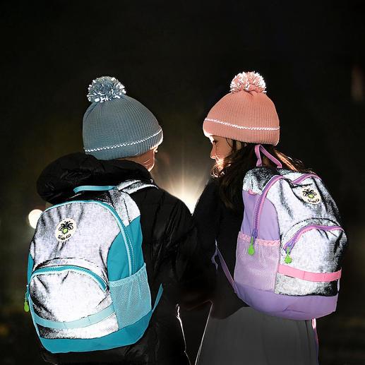 Twinkle Kid® Reflektor-Rucksack Der Kinder-Rucksack mit versteckt eingewebter Reflektor-Faser für taghellen Leuchteffekt.