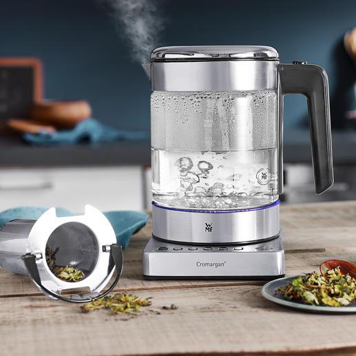 WMF KÜCHENminis® Wasserkocher Vario - Ultrakompakt. Energiesparende Temperaturwahl. Edles Design. Der platzsparende 1-l-Wasserkocher. Ideal auch für perfekt aufgegossenen Tee.