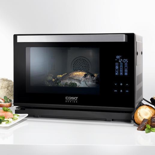 Caso Dampfbackofen Steam Chef Heissluft-Backofen, Dampfgarer und Grill in einem kompakten Gerät. Von Caso.